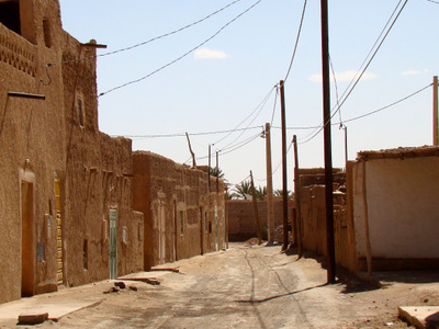 A Typical Street In The Older Part Of Merzouga
