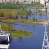 Nizhny Novgorod Aerial Tramway . Over Lowland Near Bor Town