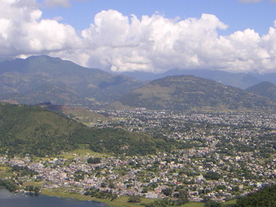 Pokhara From Peace Stupa