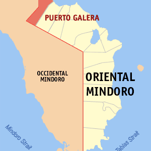 Map Of Oriental Mindoro Showing The Location Of Puerto Galera