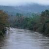 The Bhadra River Flowing Through Balehonnur