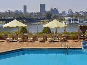 Swimming Pool View Over Nile