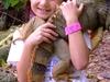 Little Girl With Iguana