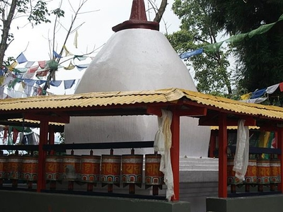 A Chorten In Enchey Monastery In Gangtok
