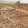 Aerial View Of The Timgad Archaeological Area.