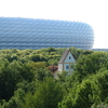 Allianz Arena With The Heilig Kreuz Kirche