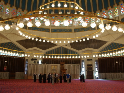 Interior View Of King Abdullah I Mosque