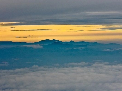 Anaimudi Highest Point Seen From An Aircraft