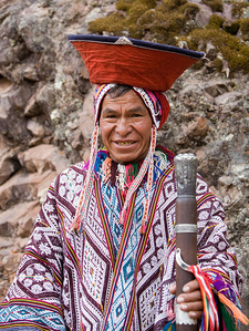 An Andean Man In Traditional Dress