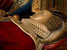A Recumbent Effigy On A Tomb