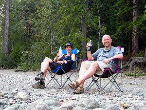At Fish Creek Campground - Glacier - Montana - USA