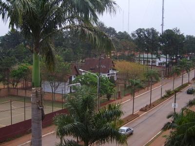 Avenida Aguirre One Of The Main Avenues In Puerto Iguaz