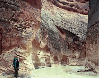Backpacker At Paria River