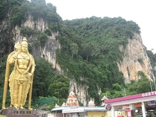 Lord Murugan Statue Outside Batu Caves