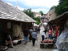 Bazar At Old Bridge In Mostar