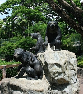 Bear Statue At The Zoo