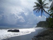 Black Sand Beach In Tahiti
