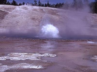 Blue Geyser At Yellowstone - USA