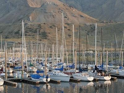 Boats At Great Salt Lake Utah