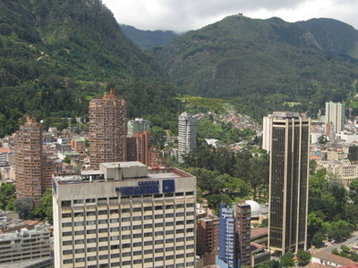 Bogota Downtown With Monserrate