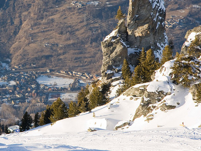 View From Les Arcs Ski Resort