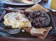 Breakfast With Gallo Pinto In Costa Rica