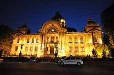 Bucharest CEC Palace At Dusk
