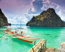 Bunka Boat In Tropical Lagoon