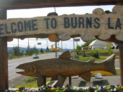 Burns Lake's Welcome Sign