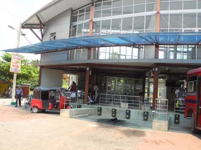 Bus At Negombo Terminal