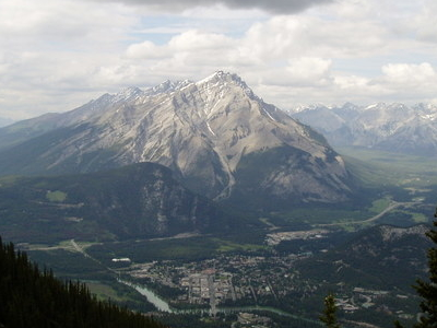 Banff Townsite With  Cascade