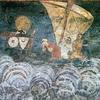 A Ship In A Fresco In Boyana Church