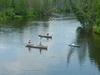 Canoes Along Au Sable River