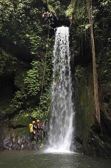 Canyoning In Gitgit Waterfall, Bali