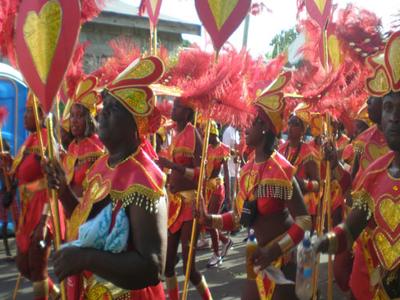 Carnival Revellers In Antigua And Barbuda