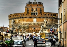 Castel Sant'Angelo From Road Below - Rome