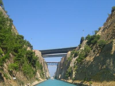 Sailing Through The Isthmus Of Corinth