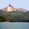 Diamond Lake With Mount Thielsen