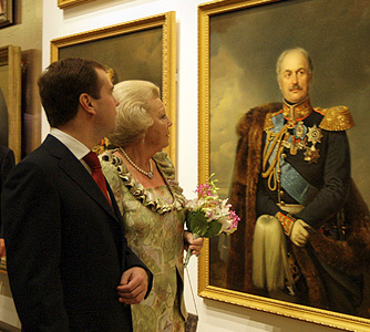 Russian President Dmitry Medvedev And Queen Beatrix At Hermitage Amsterdam