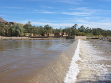 Draa River In Agdz