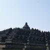 Guide & Tourists - Temple Backdrop