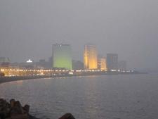 Lit Air India Building & Oberoi Towers - Marine Drive