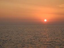 Beautiful Orange Sunset At Marine Drive
