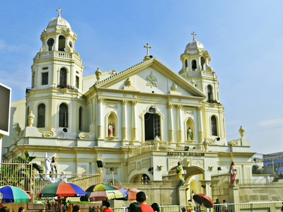 Front View Of Quiapo Church