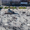 Duomo Square In Milan - Italy - Aerial View