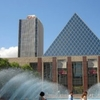 Edmonton City Hall With The Cn Tower In The Background