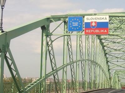 Entering Slovakia Through Bridge