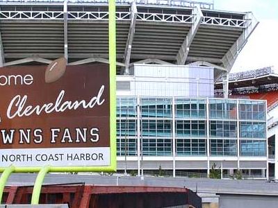 Entrance Ramp Of Cleveland Browns Stadium