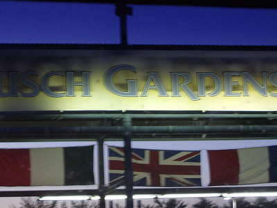 Entrance To  Busch  Gardens