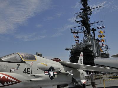 F8U Crusader 147030 USS Midway Museum